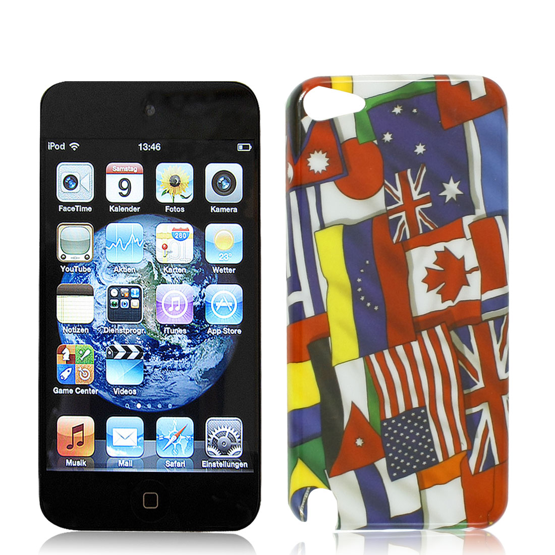 IMD National Flags Pattern Hard Plastic Back Case Cover for iPod Touch 5 5G 5th