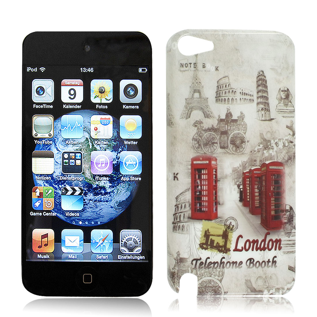 IMD Historic Theme Pattern Hard Plastic Back Case Cover for iPod Touch 5 5th