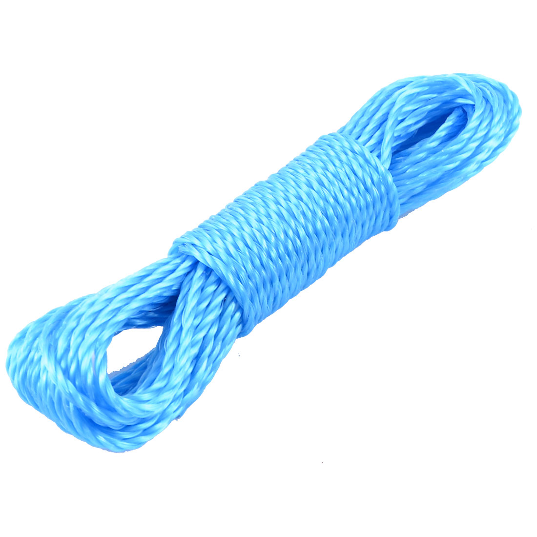 14.5M Long Blue Nylon Twisted Clothes Hanging Rope Clothesline