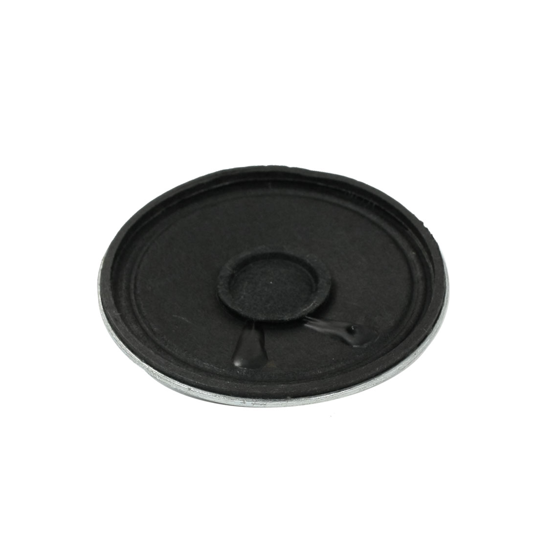 50mm Diameter Silver Tone Black Round Internal Magnet Speaker 8 Ohm 1W