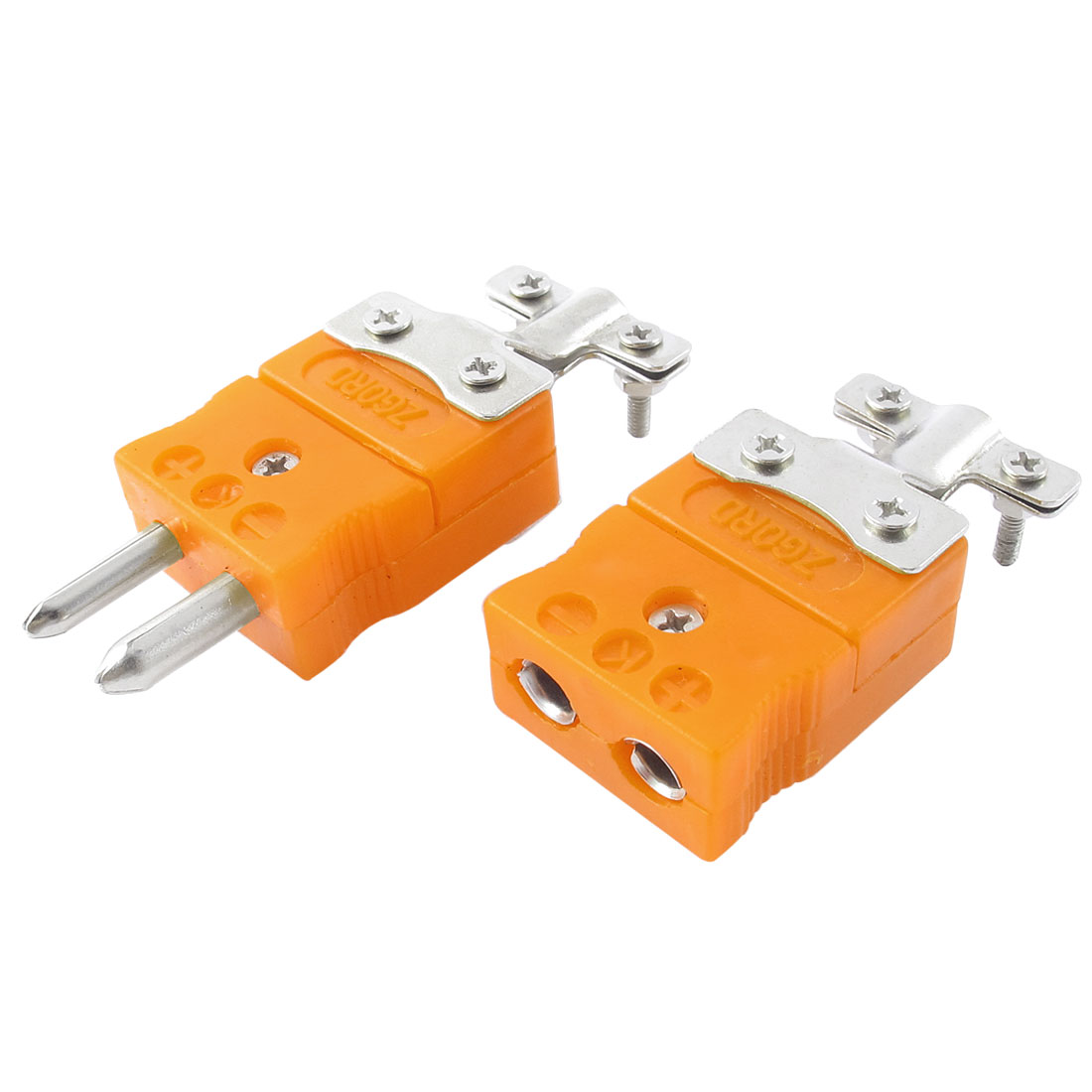 2 Pcs Male to Female Plugs K Type Thermocouple Connector