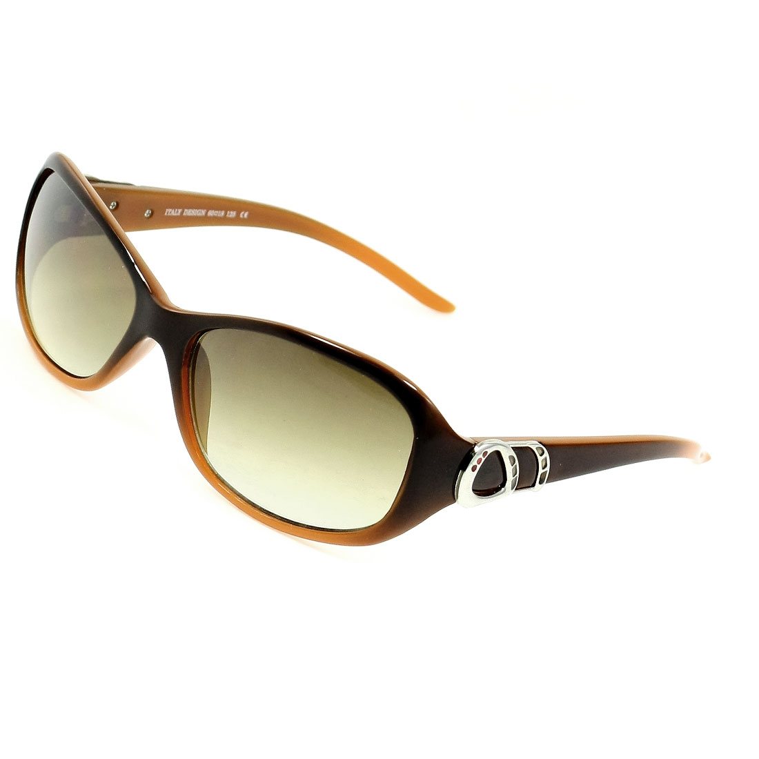 Coffee Color Lens Plastic Full Frame Sunglasses for Ladies