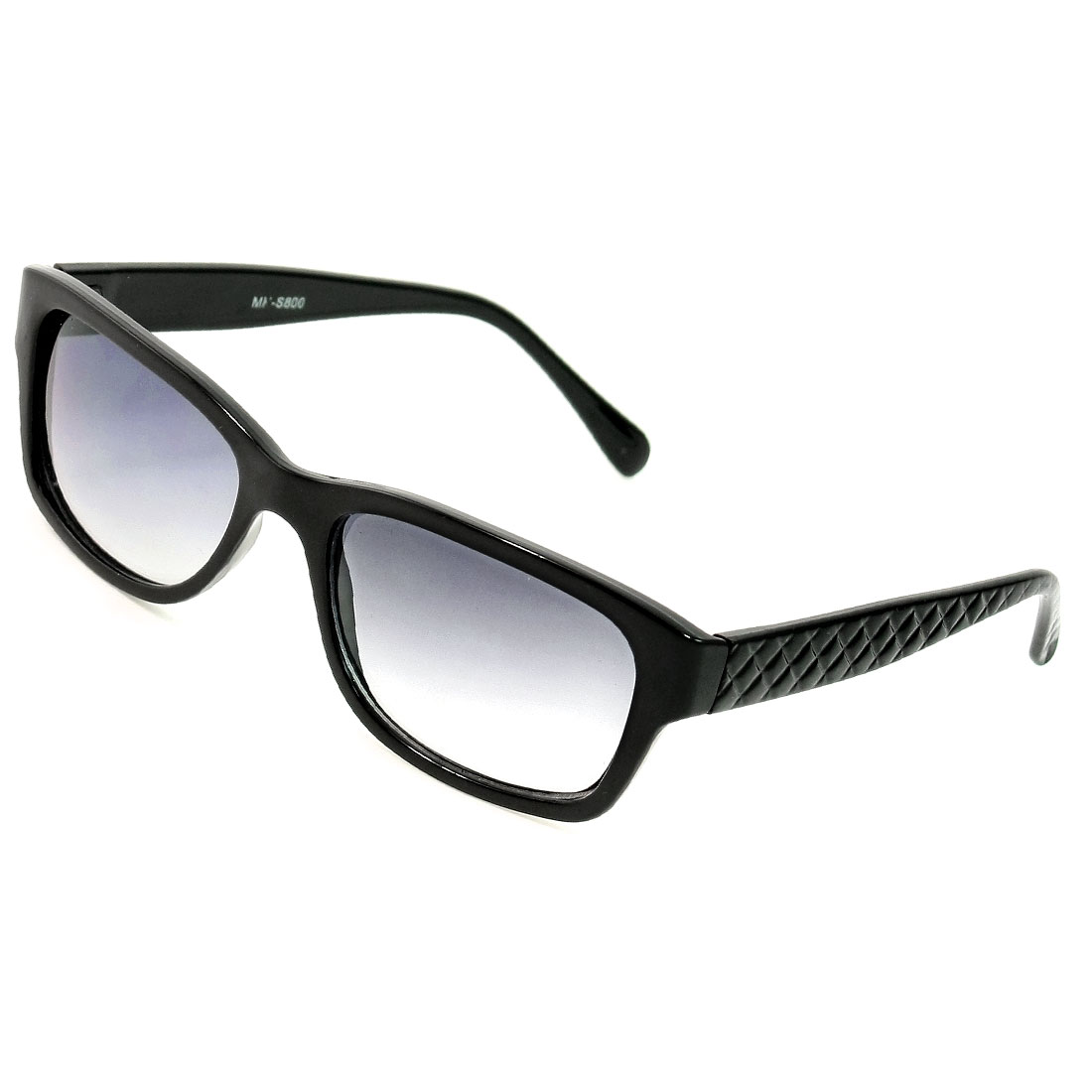 Lady Black Plastic Single Bridge Protection Sunglasses Eyewear