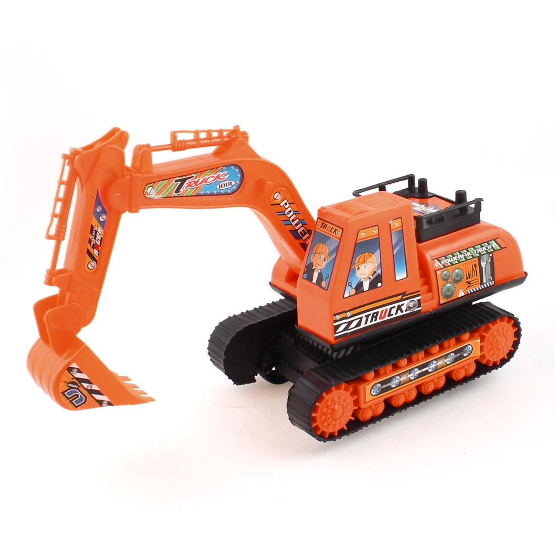 Black Orange Plastic Imitated Excavator Toy for Children