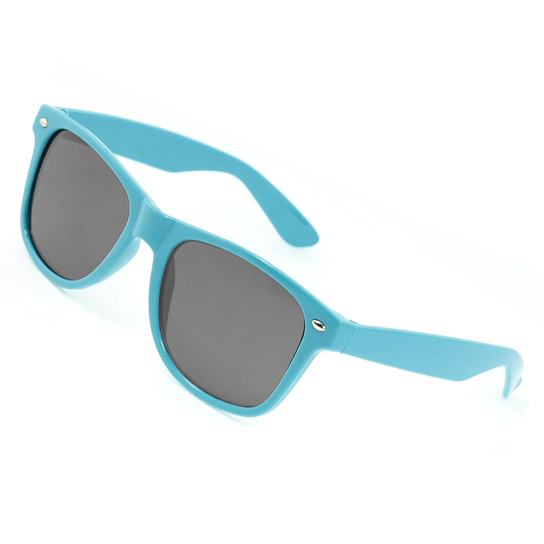 Sky Blue Folding Arms Gray Lens Full Frame Sunglasses Eyewear for Womem
