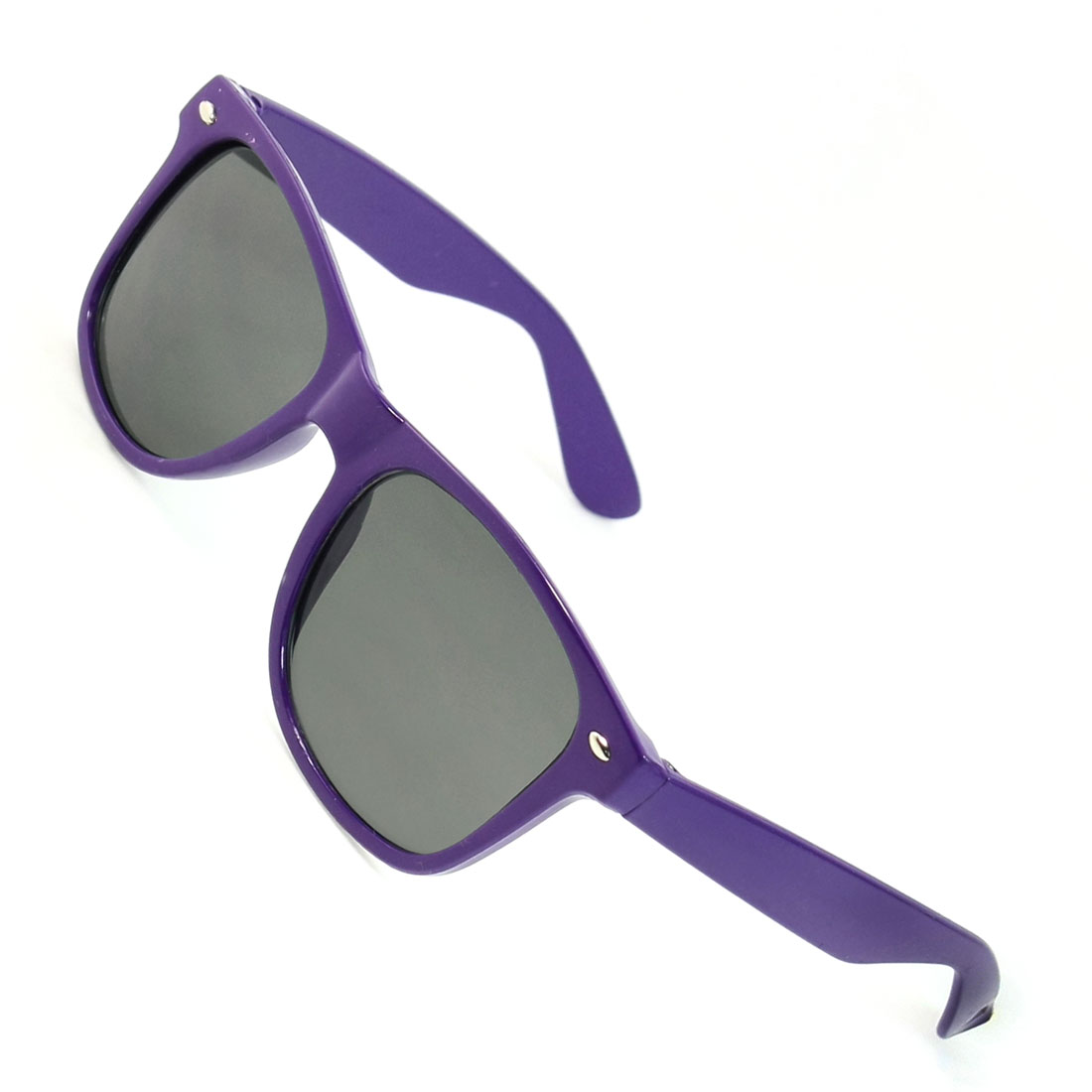 Lady Gray Lens Folding Arms Plastic Dark Purple Full Frame Sunglasses