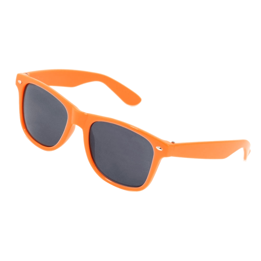 Ladies Protection Square Shape Gray Lens Orange Plastic Sunglasses
