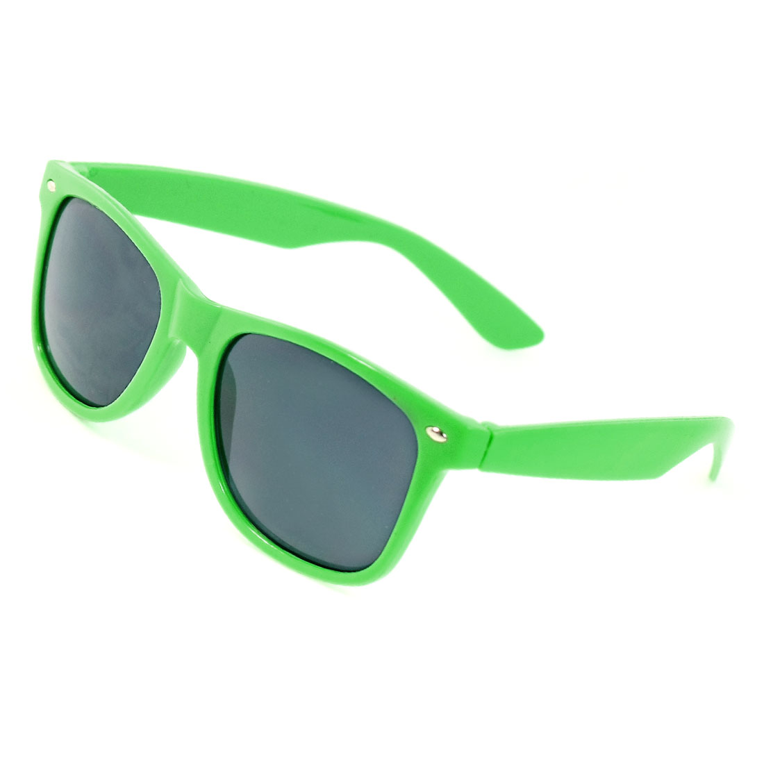 Plastic Lime Green Single Bridge Full Rim Lesiure Sunglasses for Ladies