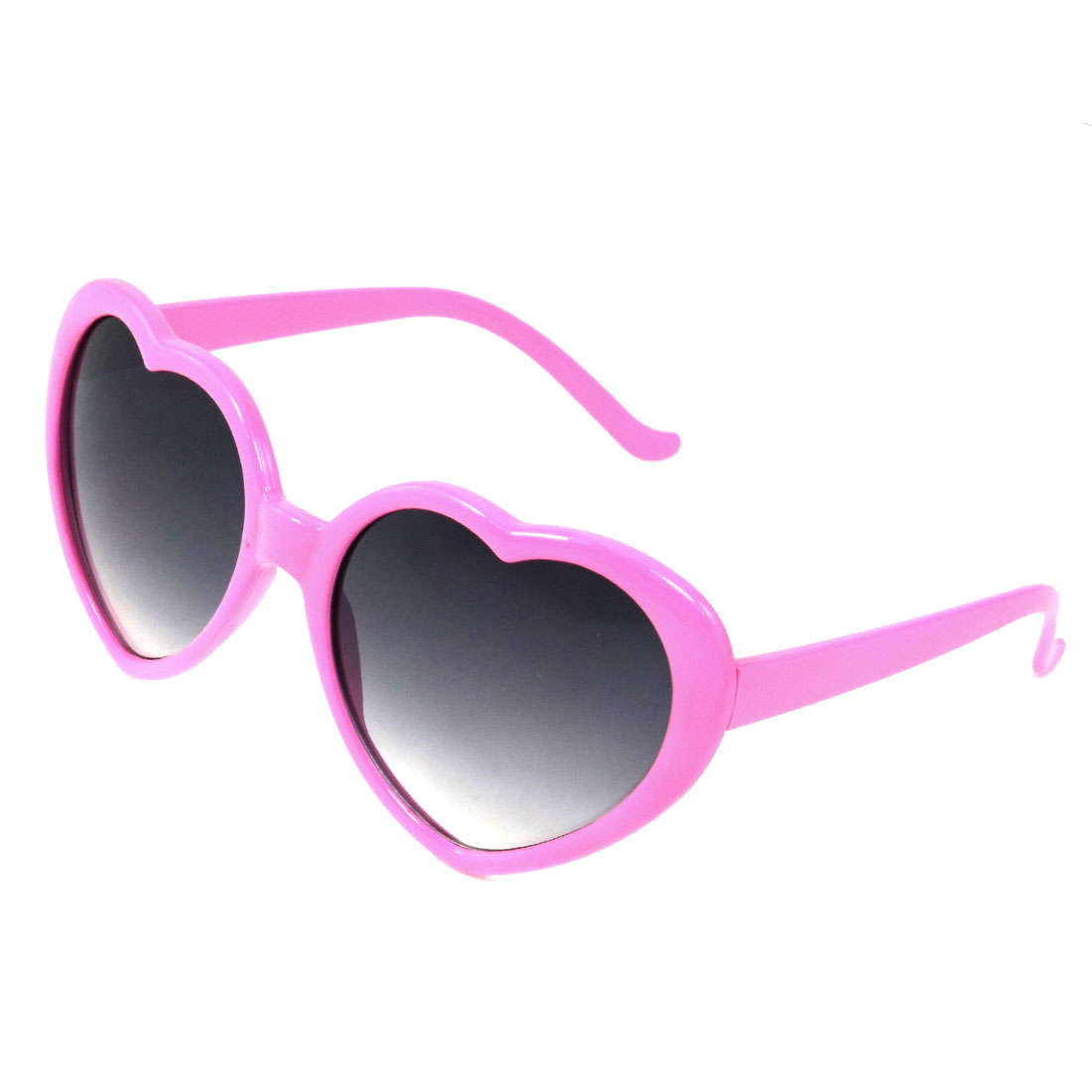Gray Lens Plastic Pink Full Frame Single Bridge Sunglasses for Child