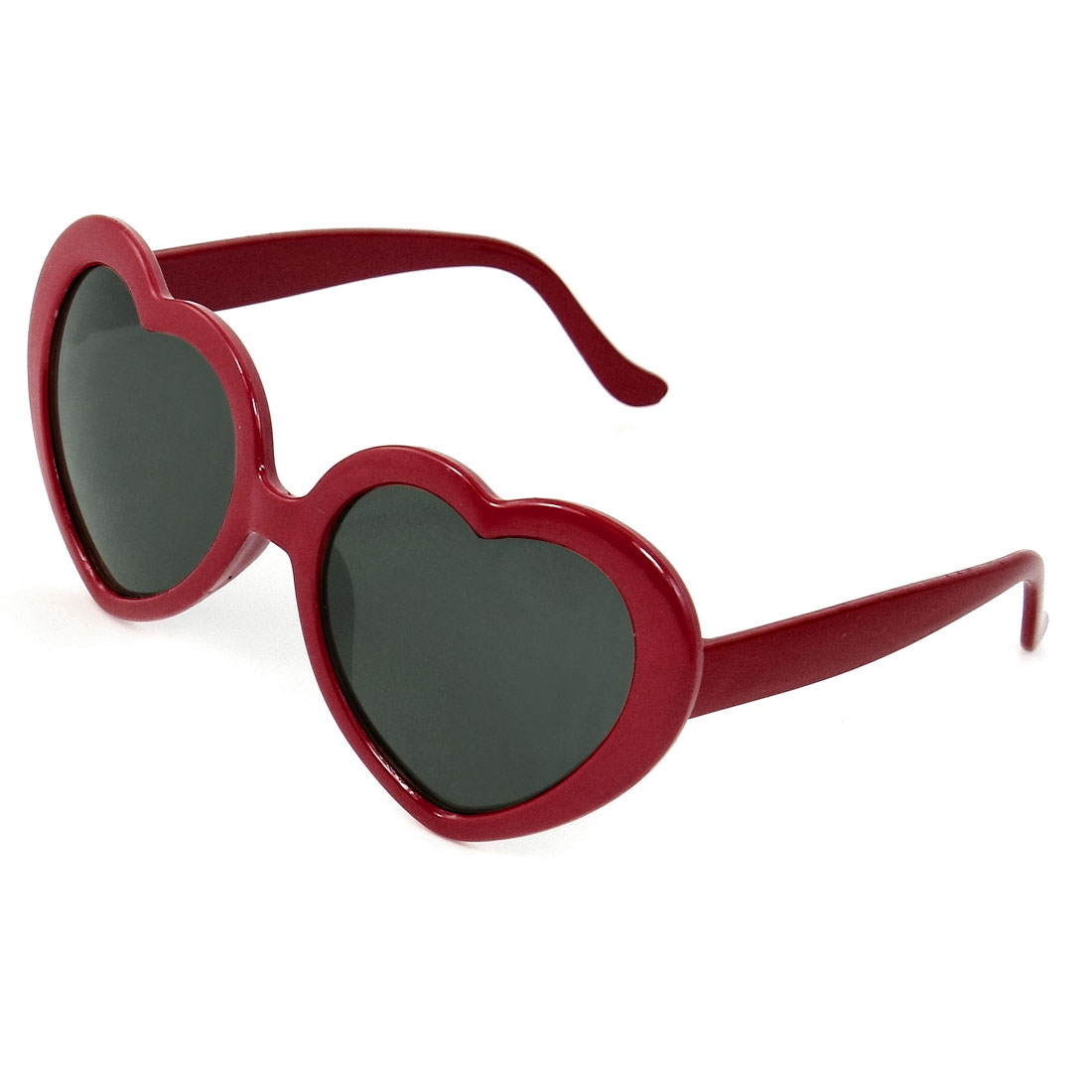 Child Red Full Rimmed Plastic Single Bridge Black Lens Sunglasses
