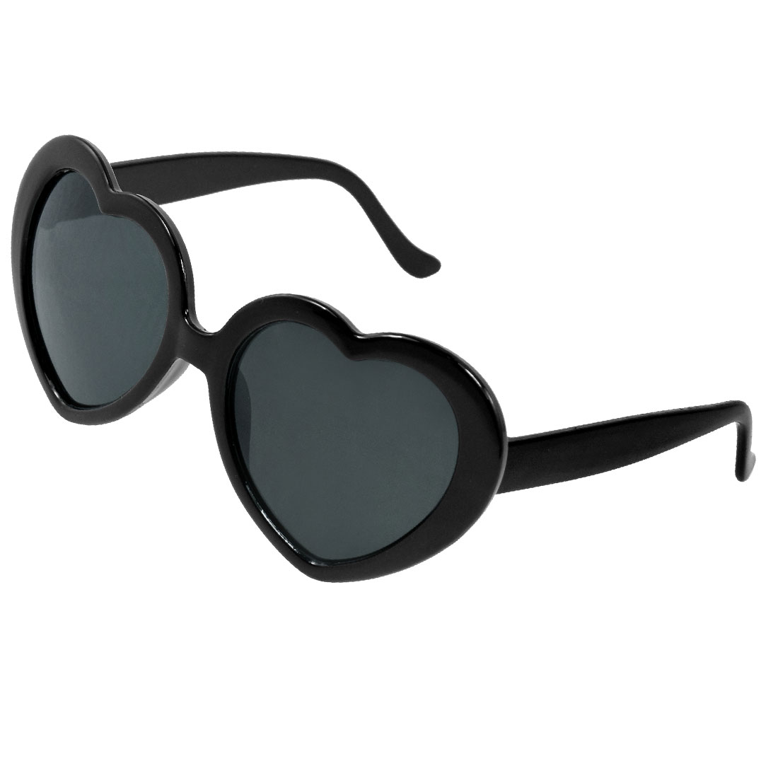 Plastic Arms Black Heart Shaped Frame Leisure Sunglasses for Child