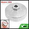 39mm Height 18 Flutes Cap Design Silver Tone Oil Filter Wrench for Automobile