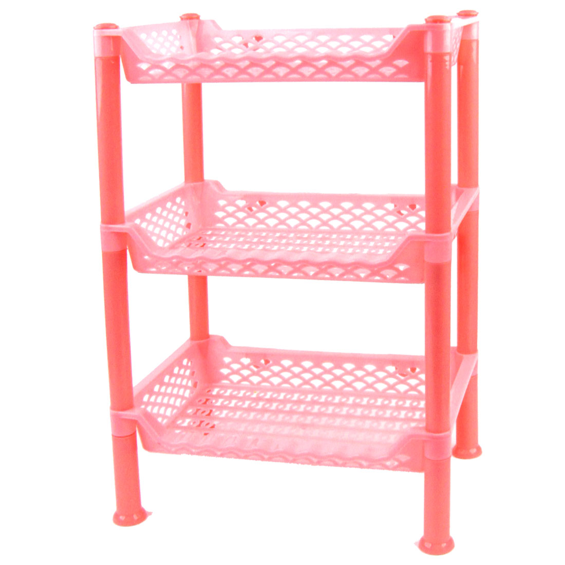 3 Layers Pink Plastic Detachable Shoes Organizers Racks Holder