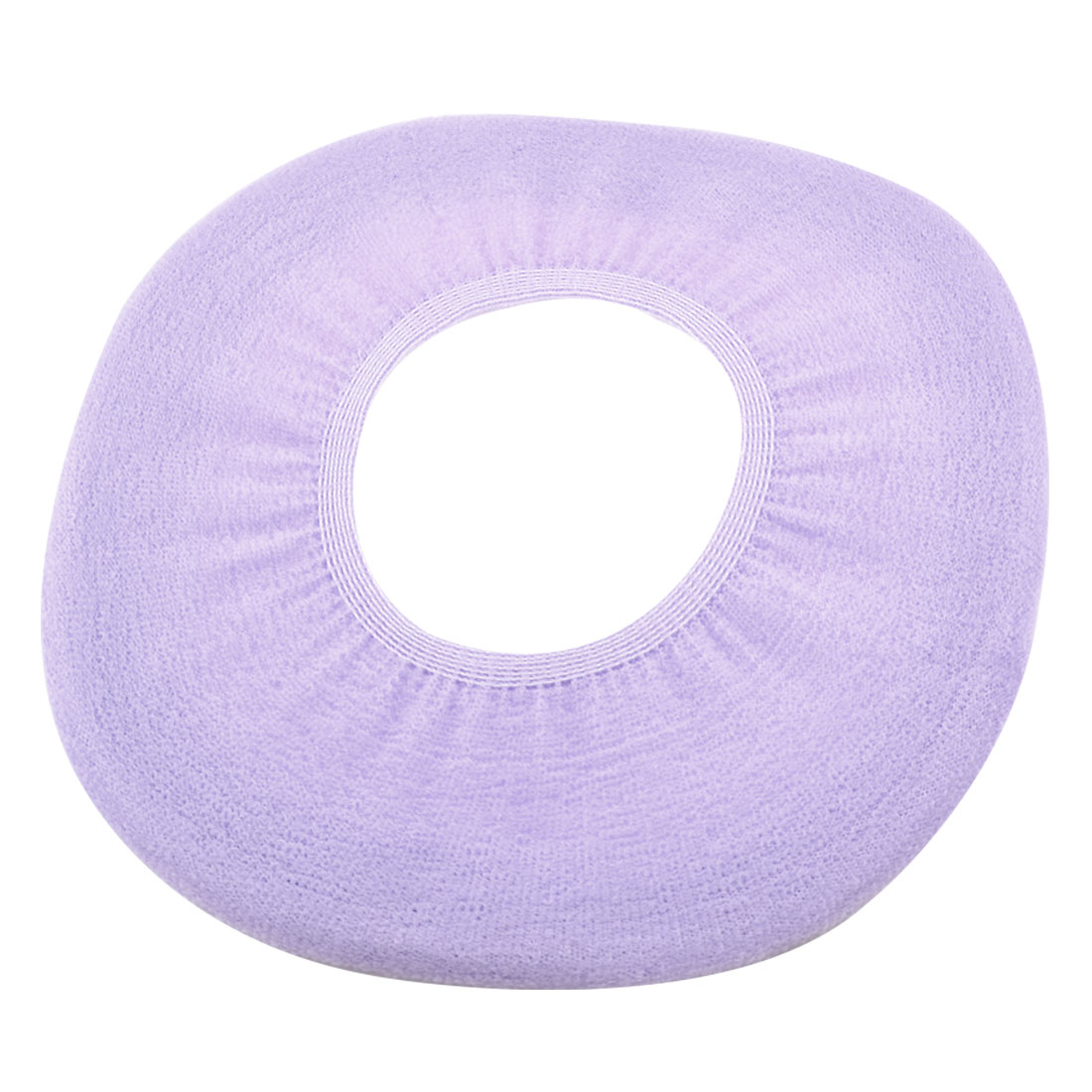 Bathroom Pure Light Purple Stretch Fleece Warmer Toilet Seat Cushion Pad