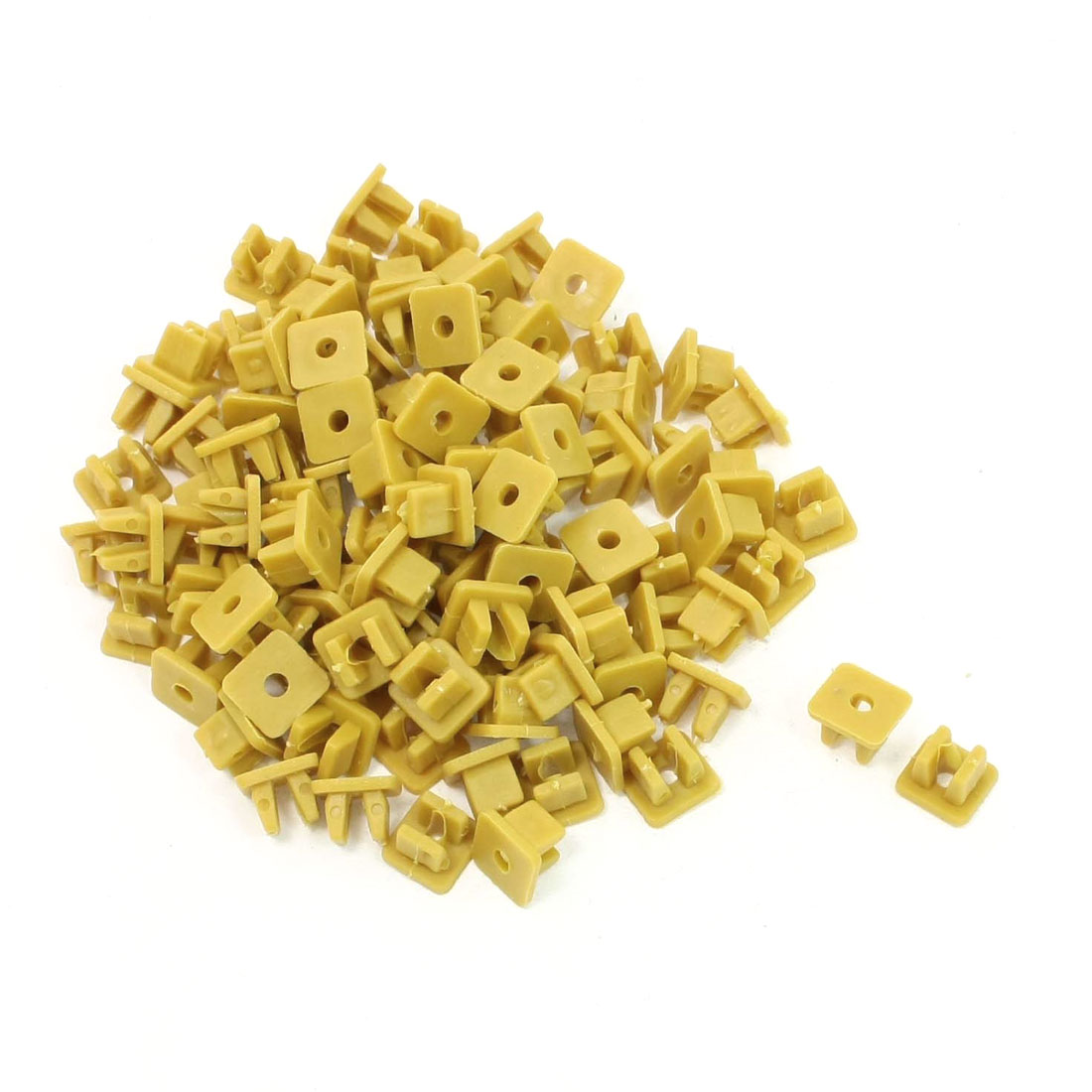 100 Pcs Yellow Car Plastic Rivets Fastener Door Clips