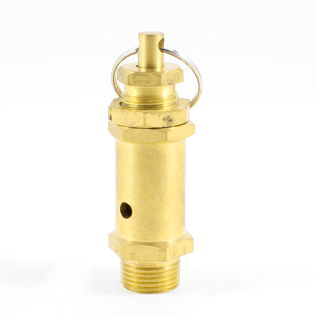"3/8""PT Male Threaded Air Compressor Safety Pressure Relief Valve w Key Ring"