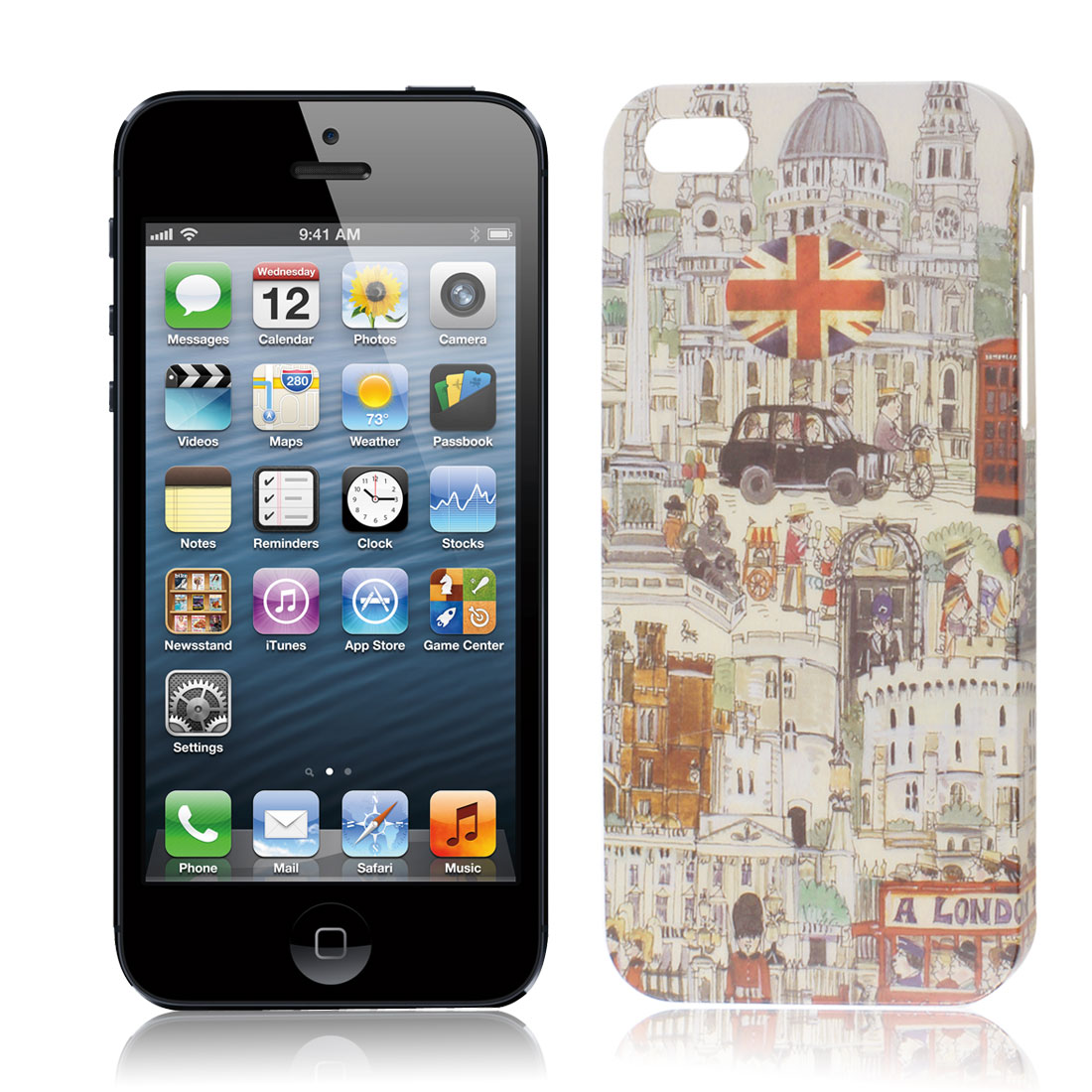 London City Print Plastic Cell Phone Back Cover Guard Shield for iPhone 5G