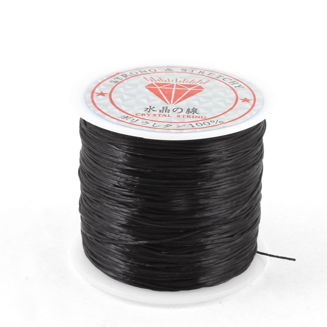 Necklace Pendant Making Black Elasticity Crystal String Line Spool 120 Meters
