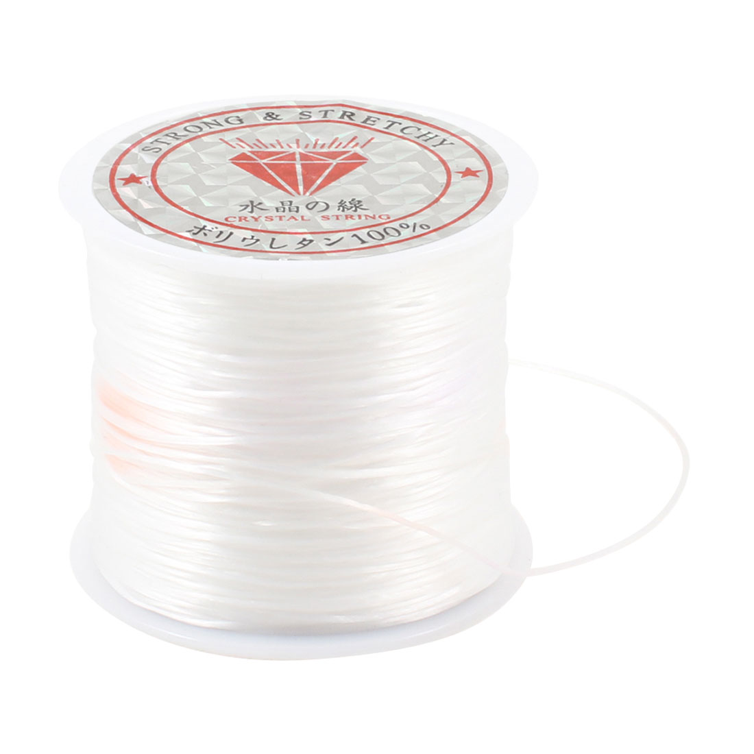 White Elastic Stretchy Crystal String Cord Jewelry Beading Thread Spool 10 Meter