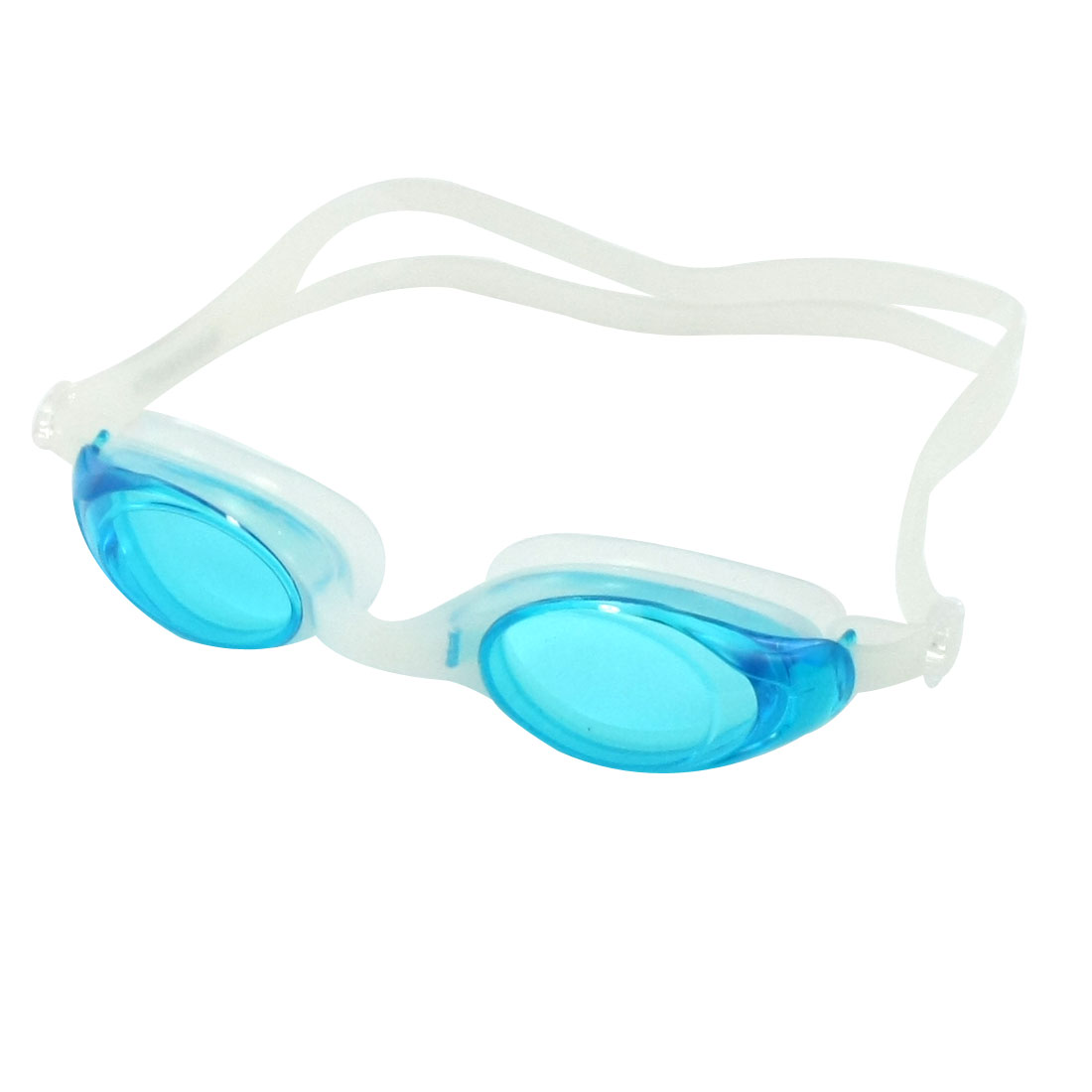 Child Elastic Strap Swimming Goggles Spectacle Sky Blue w Pair Earplugs