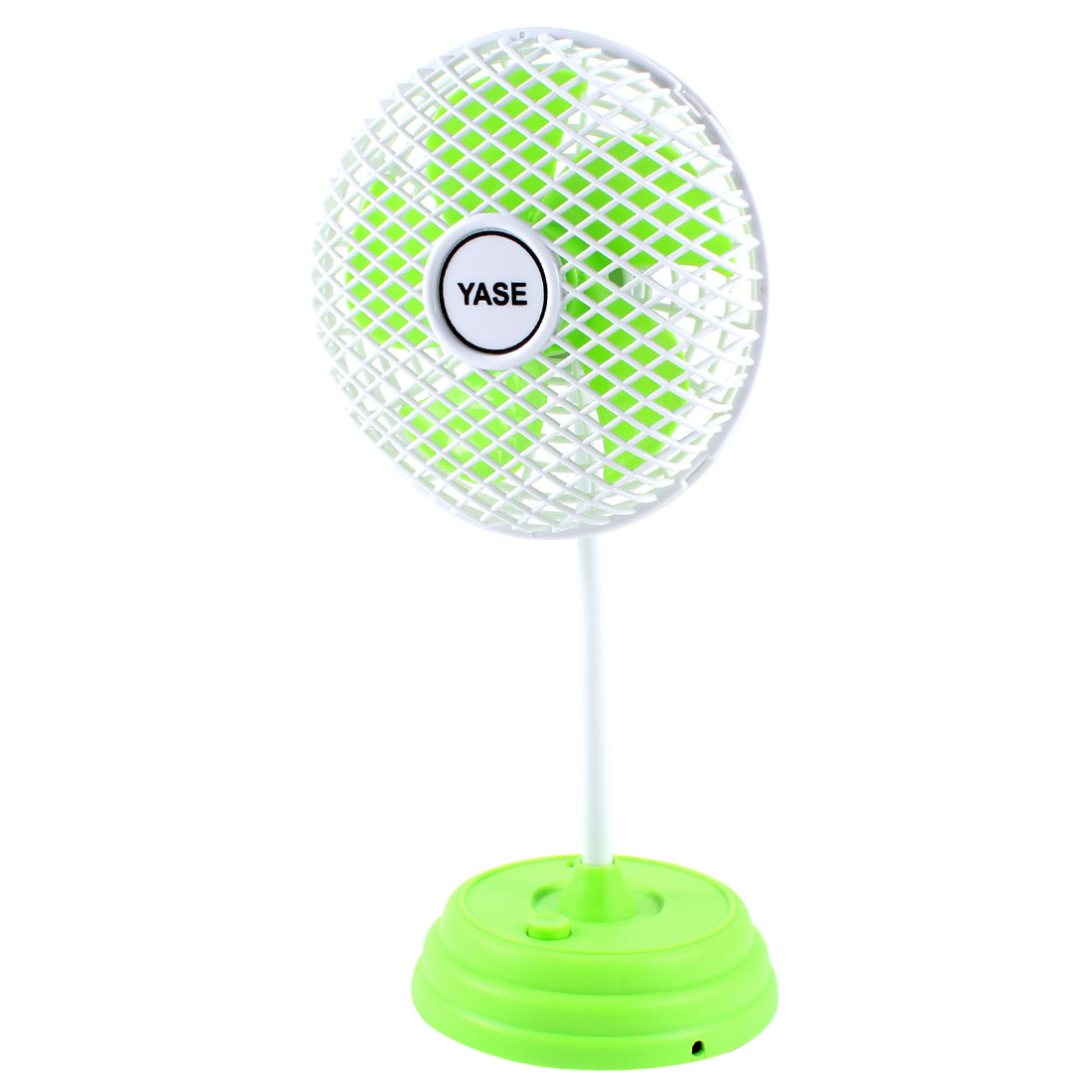 Multicolored LED Torch Mini Green White Plastic Fan w USB Cable
