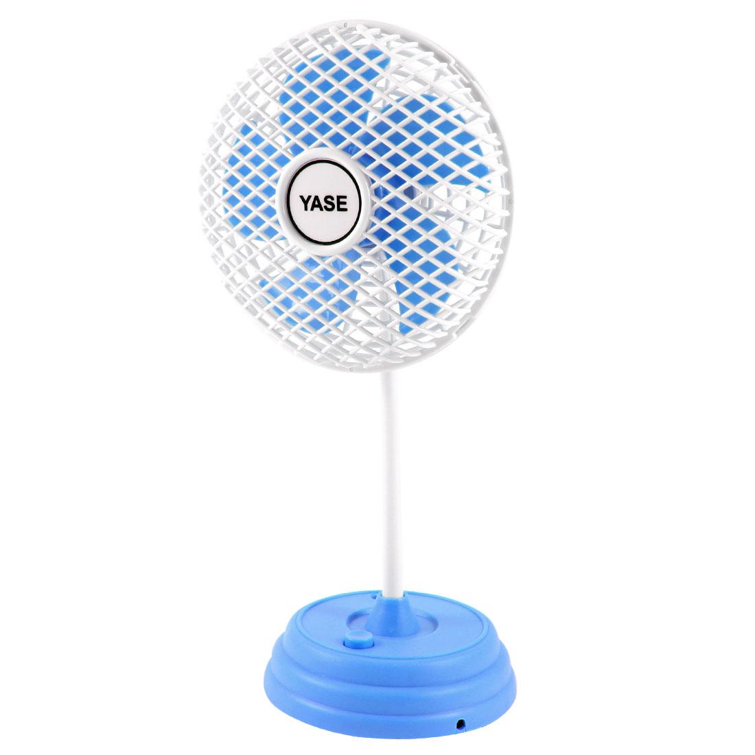 Portable Desktop USB Cooling Rotating Plastic Mini Fan w USB Cable