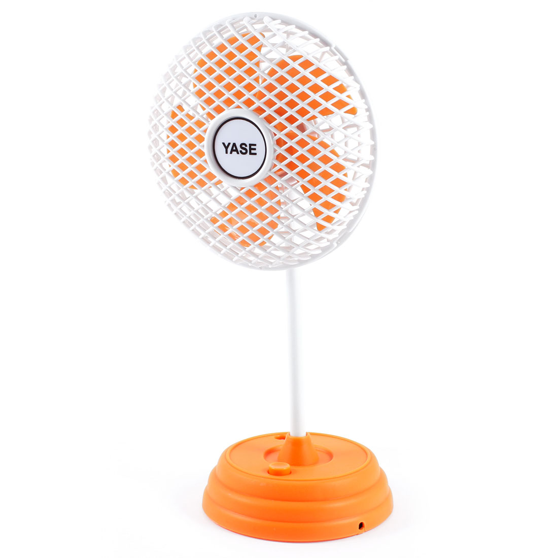Multicolor LED Light Torch USB Powered Plastic Mini Fan Orange White