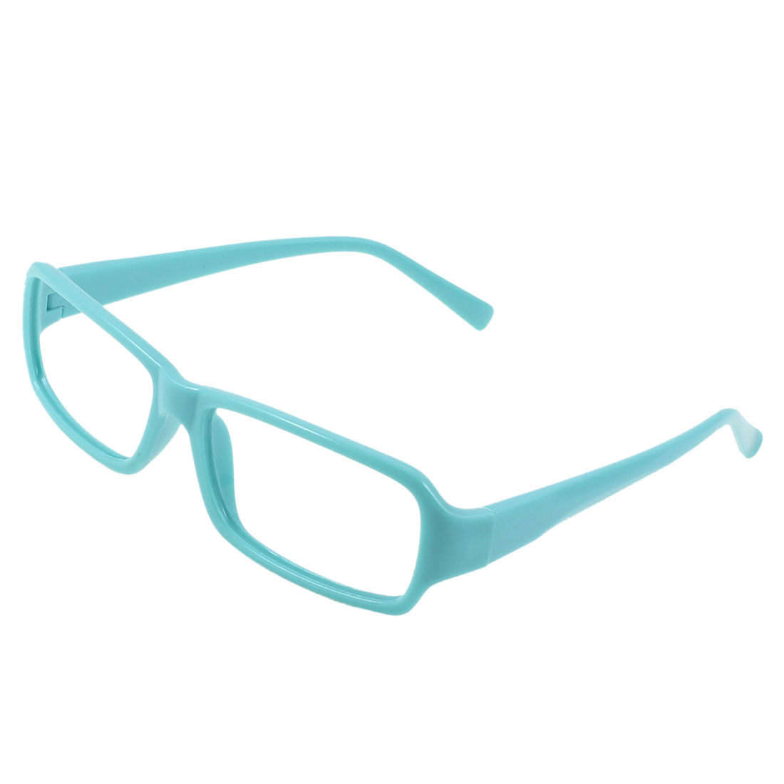 Ladies Plastic Full Rim Rectangular Eyeglasses Frame Sky Blue