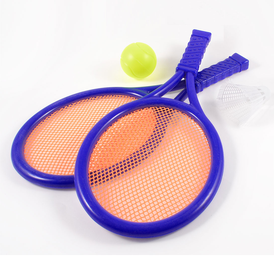 Orange Mesh Blue Plastic Frame Tennis Badminton Racket Toy Gift for Children