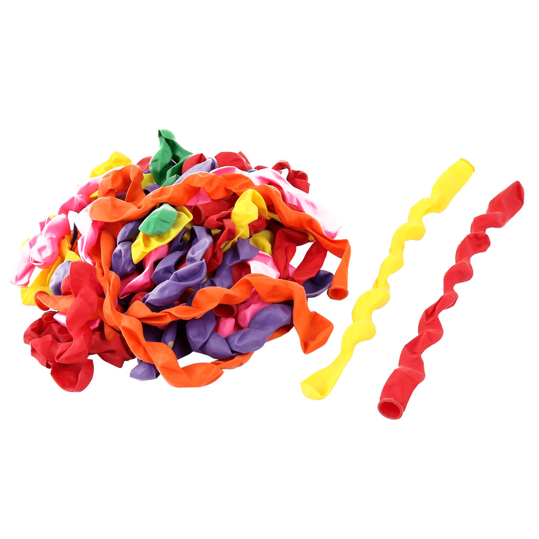 40 Pcs Assorted Color Latex Inflatable Long Spiral Balloons for Christmas Party
