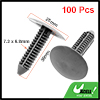 100 Pcs Car Auto Parts Gray Plastic Rivets Door Retainer Clips 25mm Head