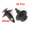 50 Pcs 8mm Hole Plastic Rivets Fastener Push Clips for Vehicle Fender Bumper