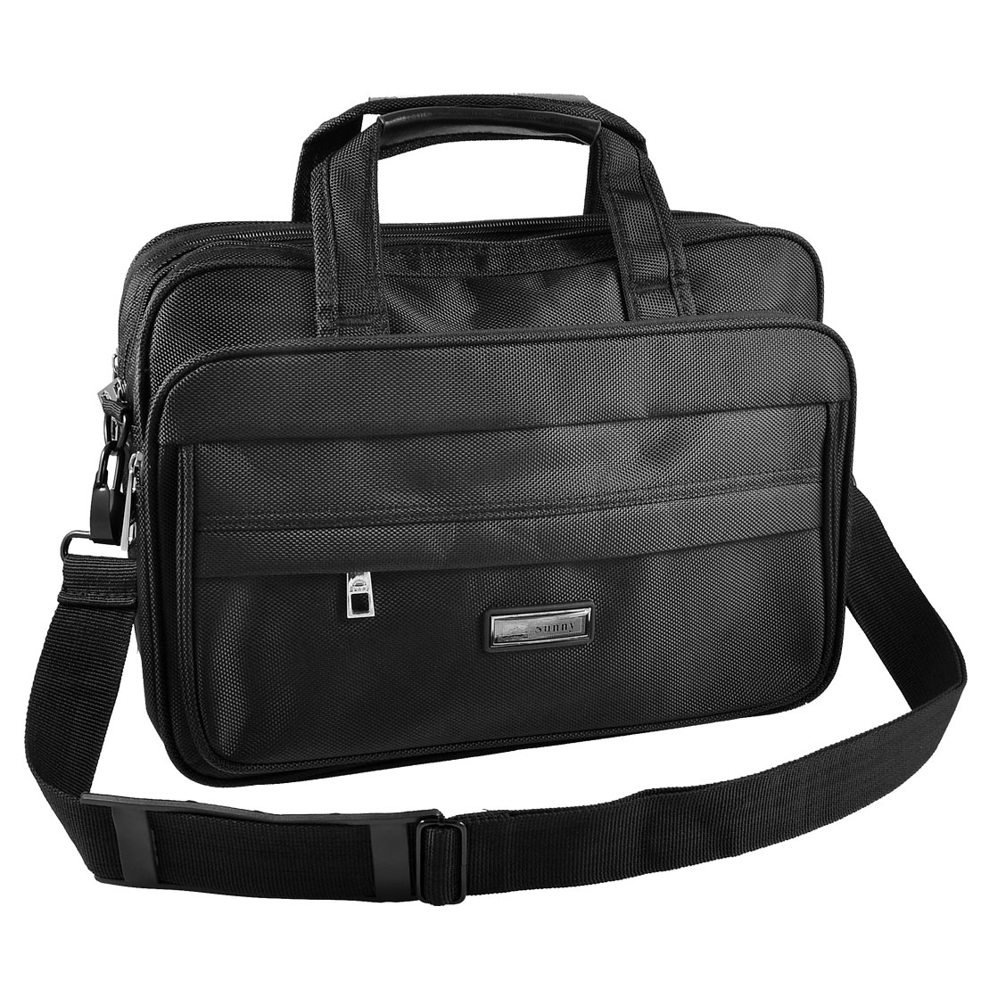 "13"" 13.3"" Zippered 5 Layers Canvas Shoulder Handle Laptop Bag Black for Acer Asus"