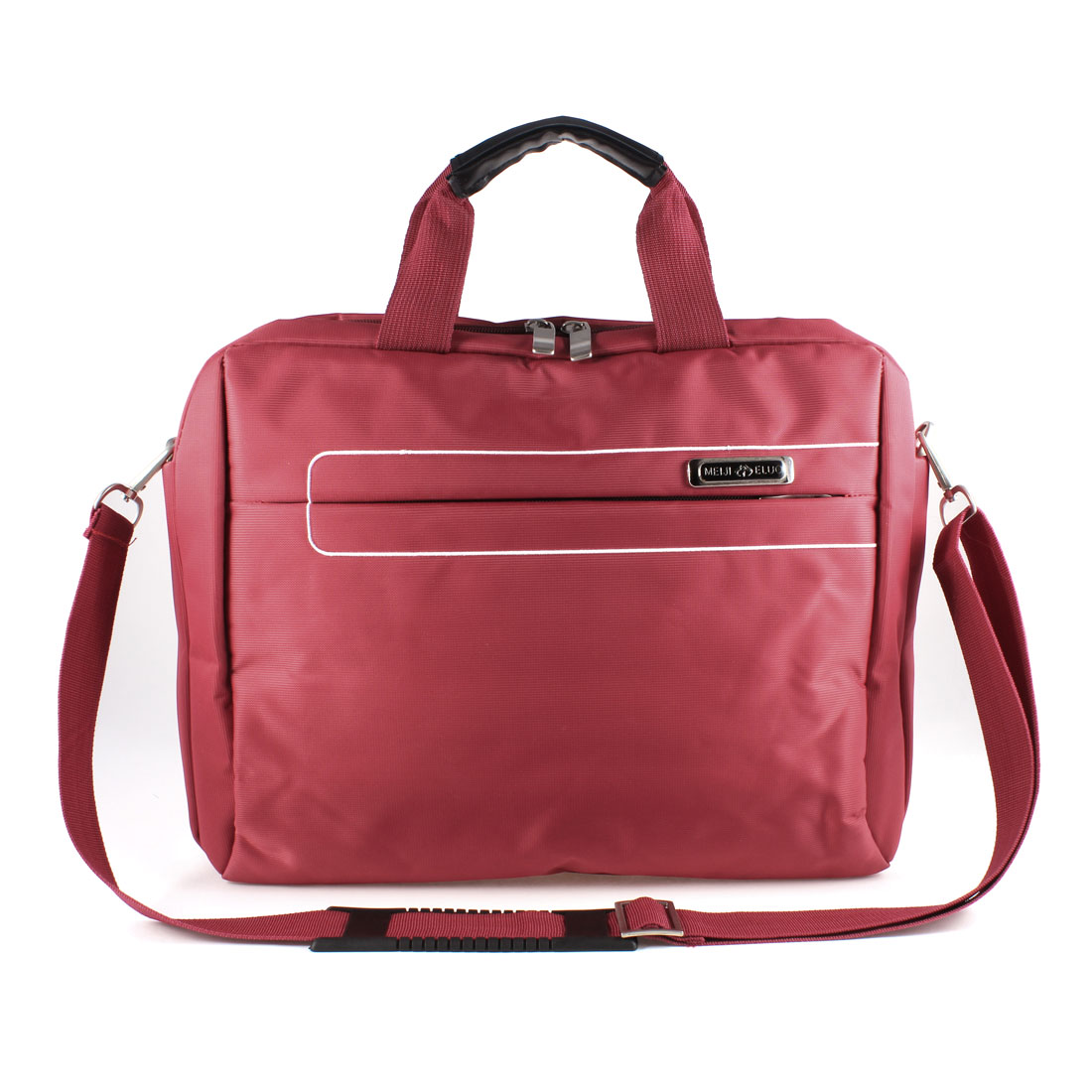 "14"" 14.1"" 14.4"" Dark Red Zipper 3 Layer Canvas Shoulder Handle Laptop Bag for Acer HP"
