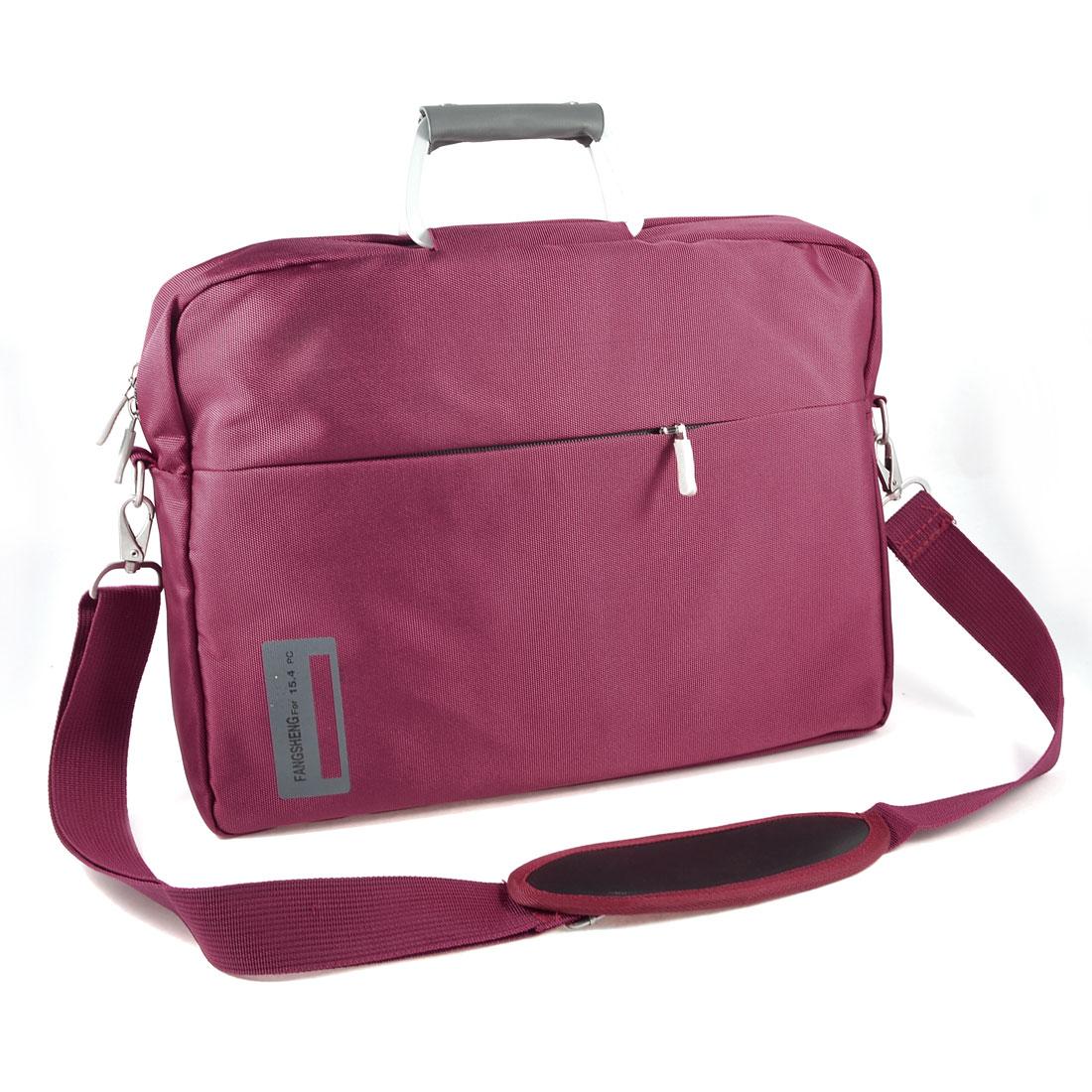 "14"" 14.1"" 14.4"" Burgundy Zip Up 3 Layers Canvas Shoulder Sleeve Laptop Bag for HP Lenovo"