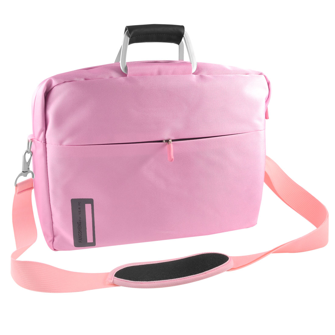 "14"" 14.1"" 14.4"" Zippered 3 Layers Canvas Shoulder Handle Notebook Bag Pink for Asus"