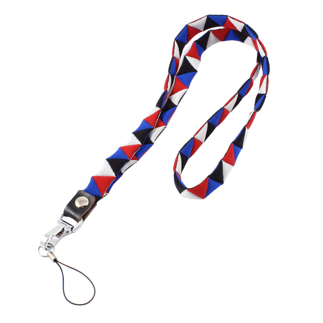 Lobster Clasp Red White Blue Neck Strap Lanyard for Cell Phone Camera
