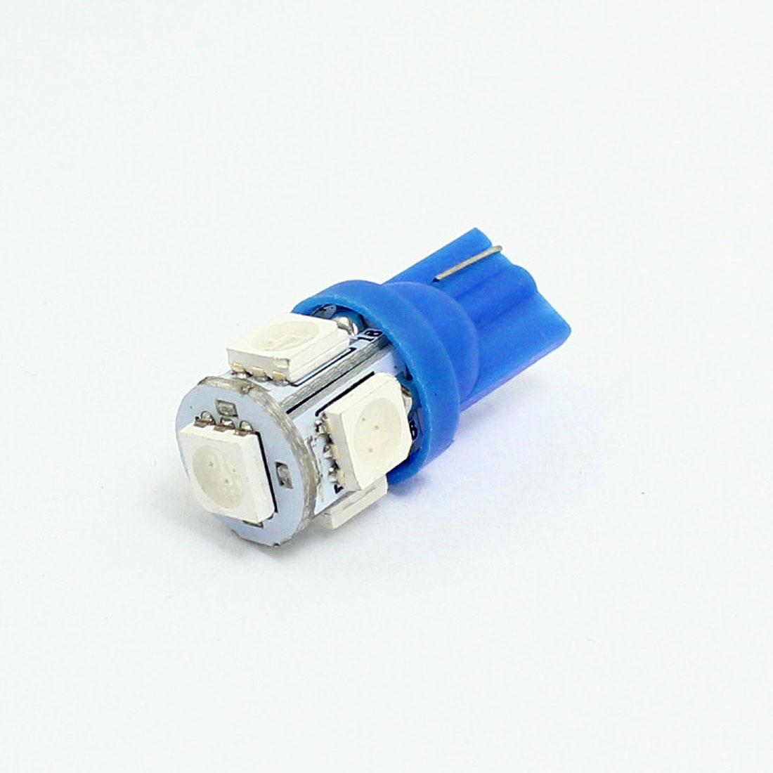 T10 904 Blue 5 LED 5050 SMD Lamp License Plate Meter Panel Light for Car