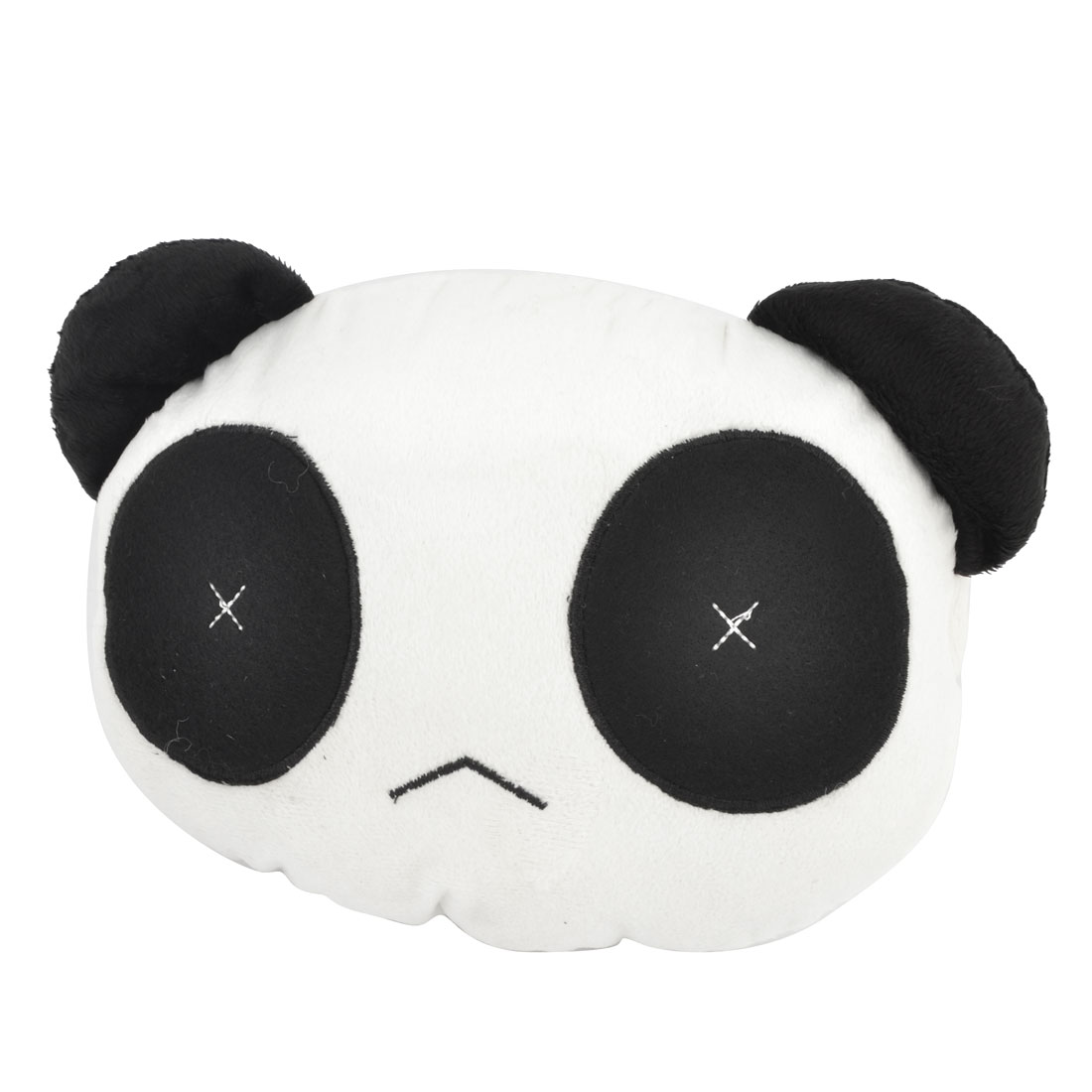 White Black Panda Shaped Neck Support Soft Pillow Headrest Cushion for Car
