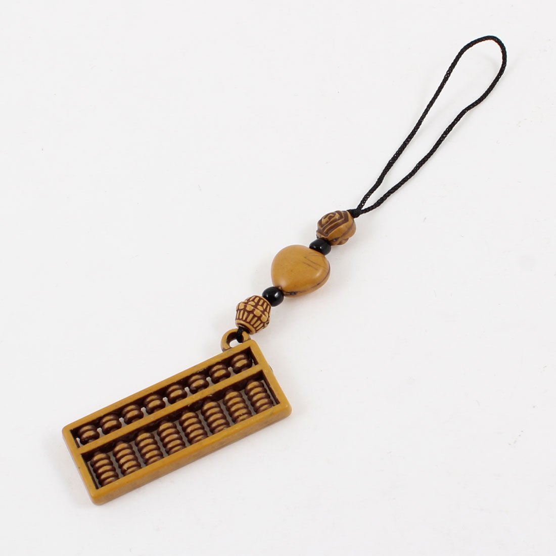 Abacus Shape Wood Pendant Ornament for Cell Phone Handbag Keychain