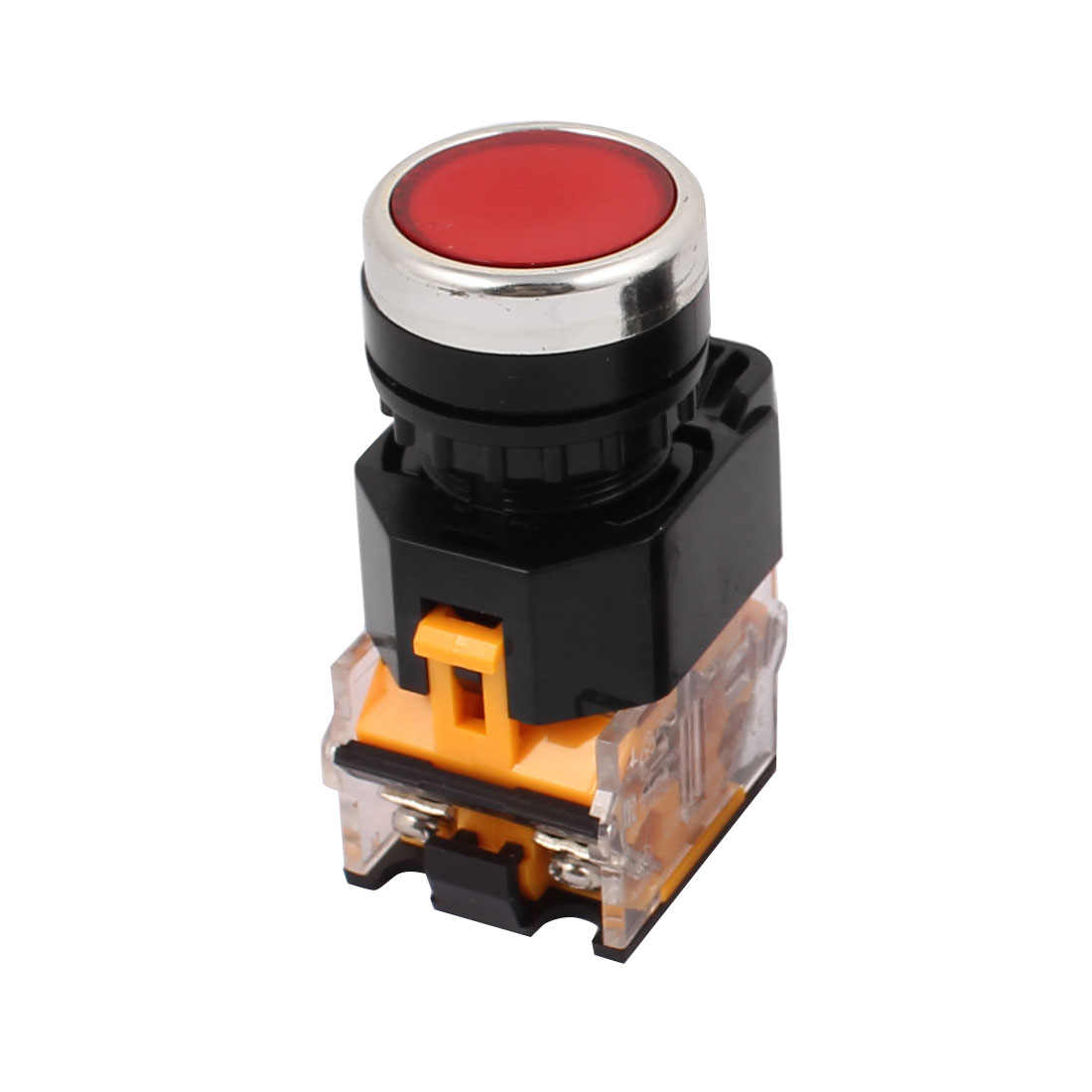 AC 400V 10A Red Button Momentary Push Button Switch 1NO 1NC DPST