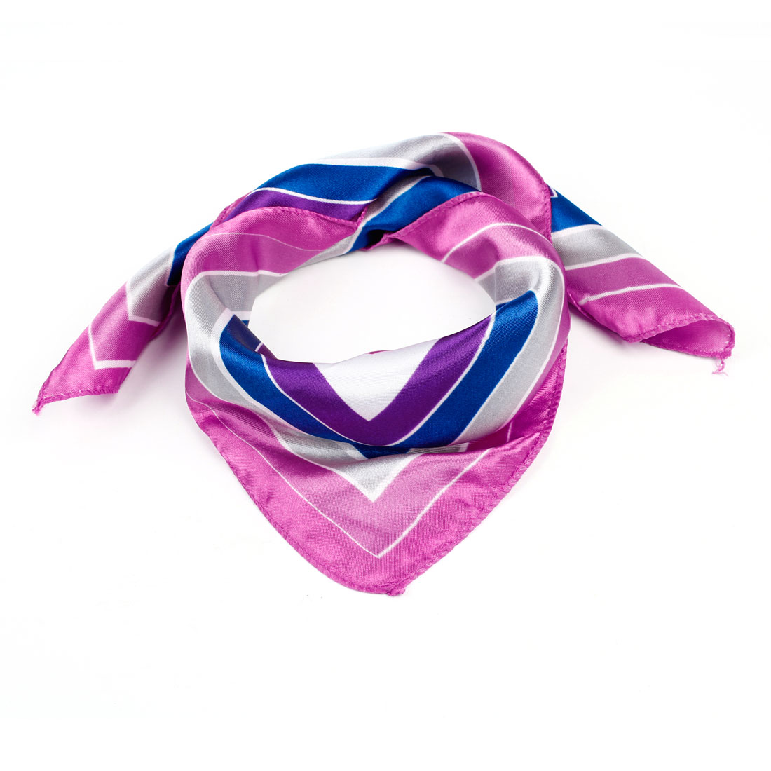 Multi Color Square Pattern Polyester Scarf Neckerchief for Ladies