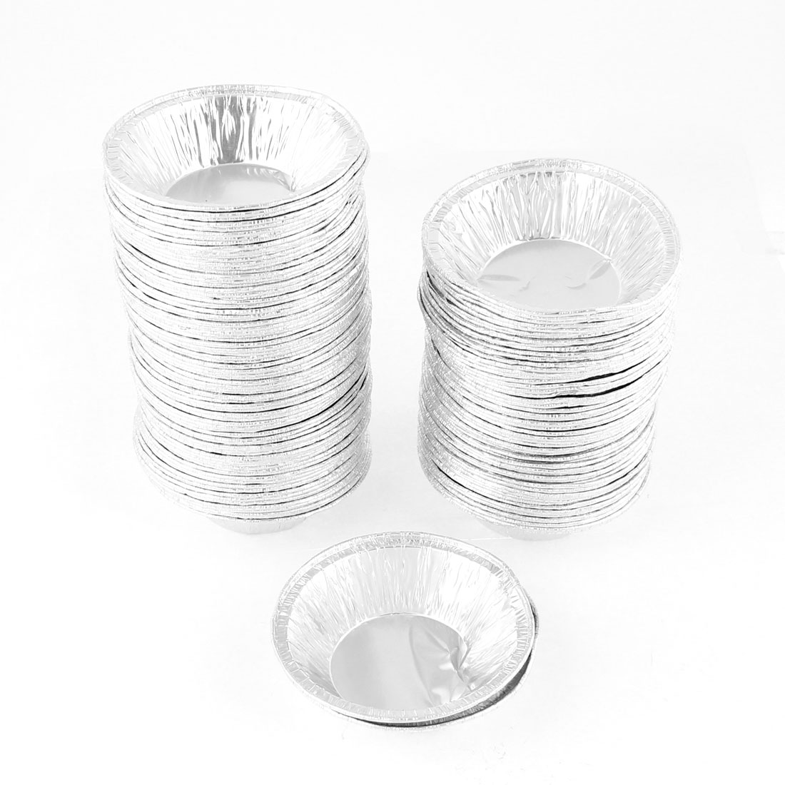 240 Pcs Circular Egg Tart Tins Cake Cups for Kitchen Baking
