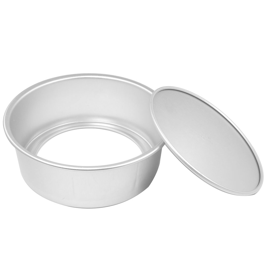 "3.1"" Height Round Aluminum Alloy Bottom Removable Nonstick Cake Mold Mould Pot"