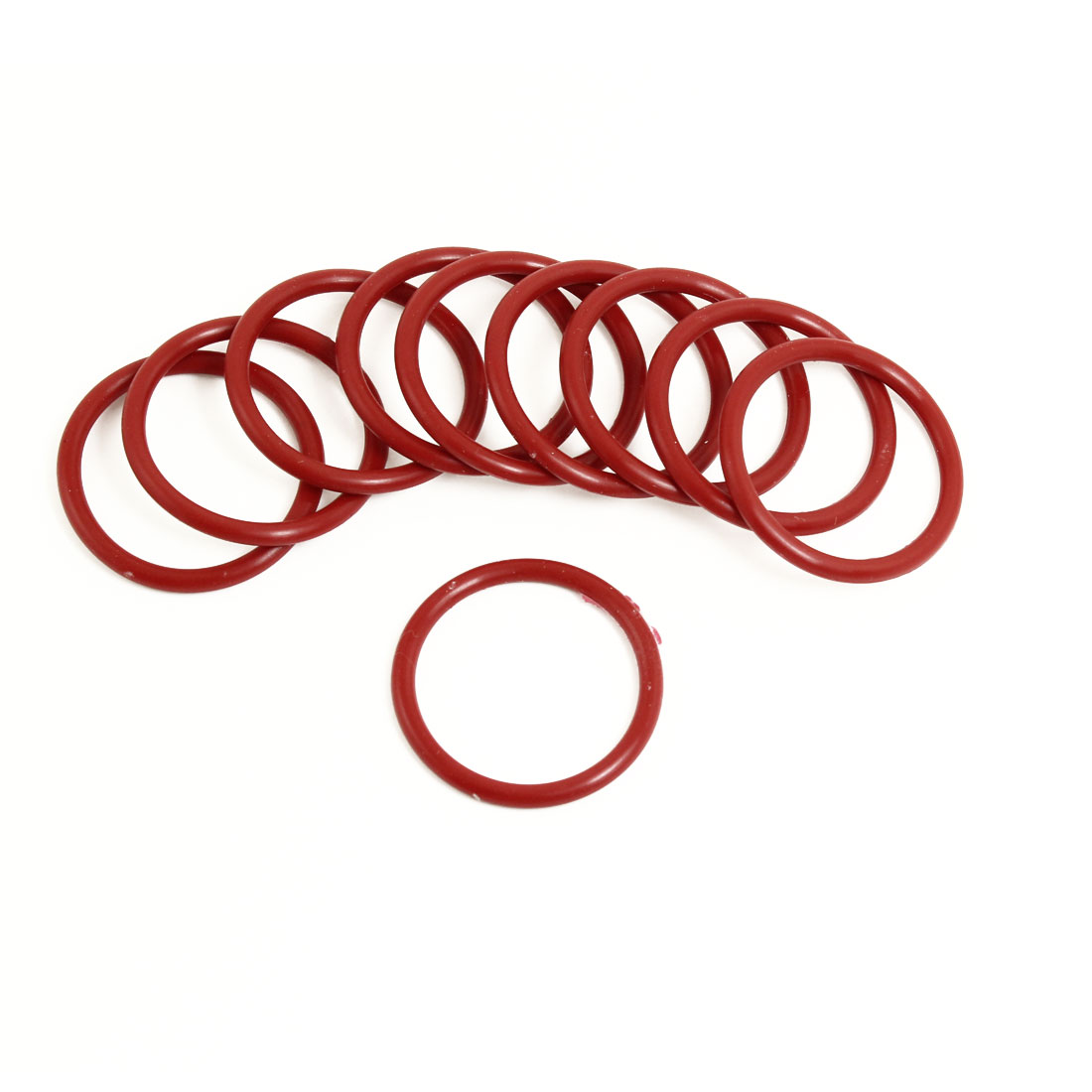 10 x Flexible Soft Rubber O Ring Seal Washers Replacement Red 34mm x 3mm