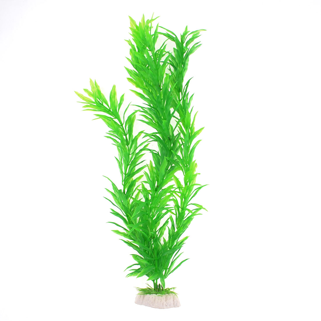 "Fish Tank Aquarium Decor Plastic Green Grass Plant 15.7"" Height"