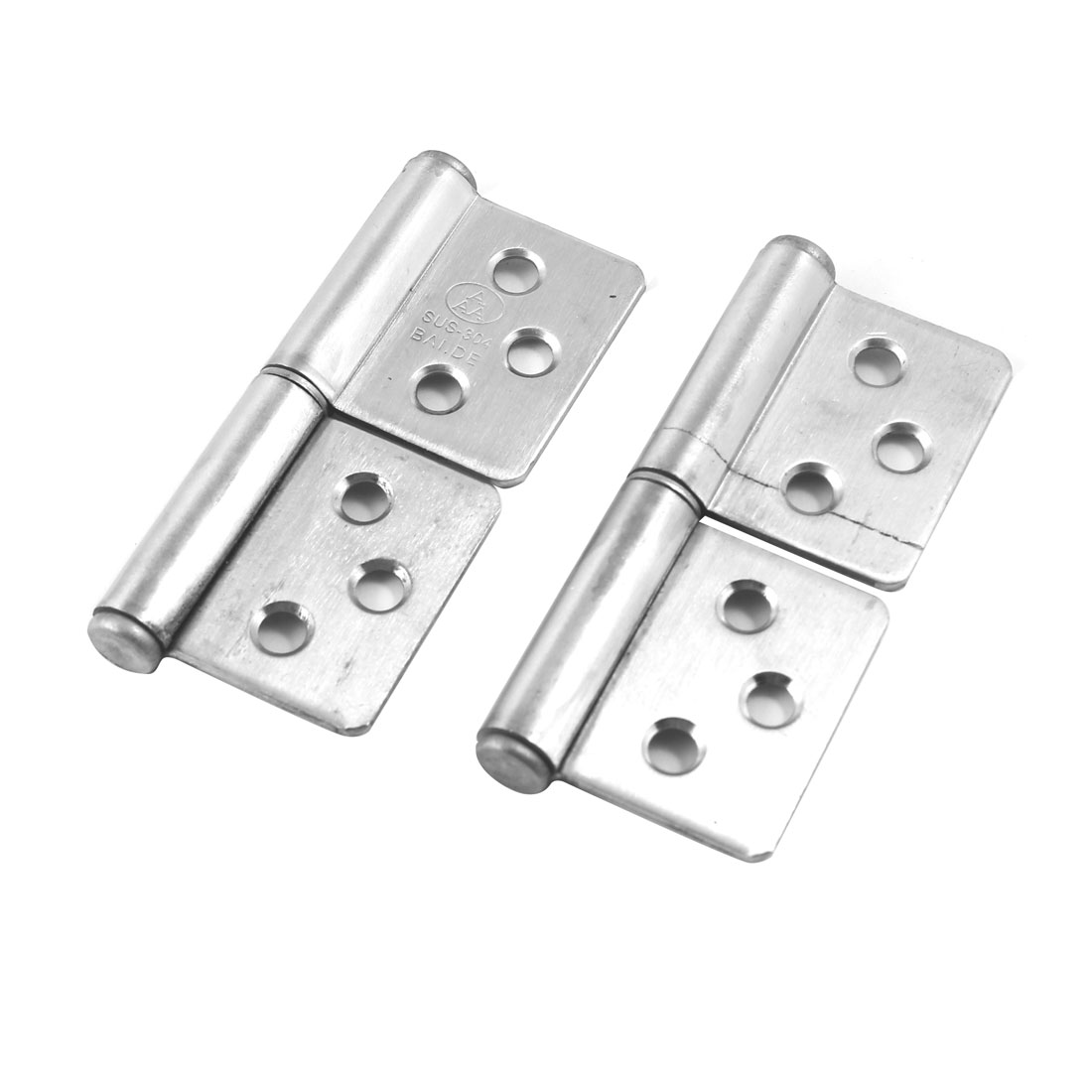 "2 Pcs 3"" Long Stainless Steel Two Leaves Door Window Flag Hinges"