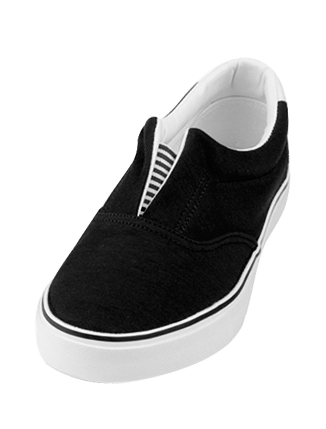 Mens Ladies Black Round Toe Casual Canvas Shoes US Size Mens 8.5/Women 1O.5