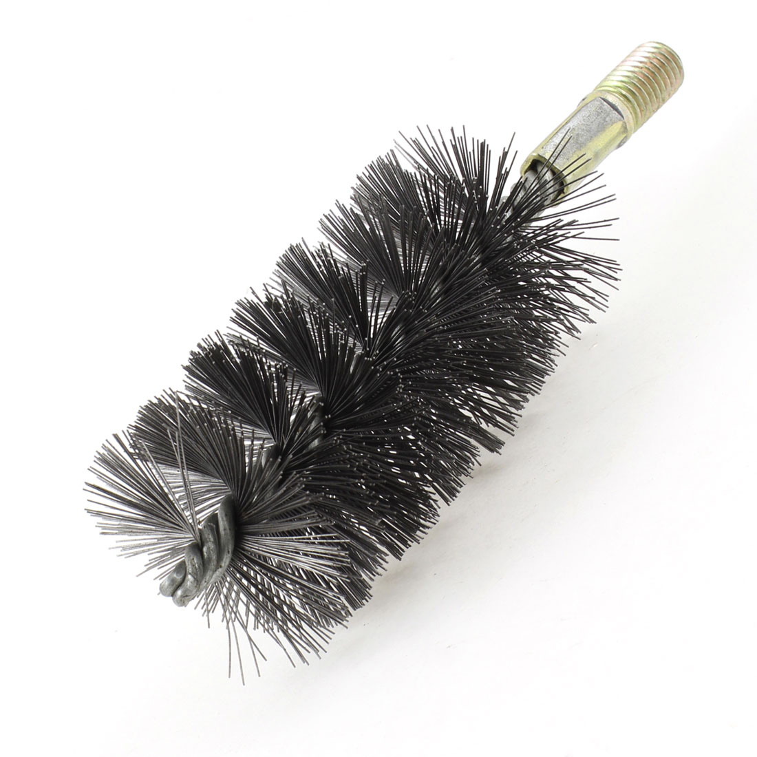 "55mm Diameter 12mm Threaded Steel Wire Tube Clean Brush 6.3"" Long"