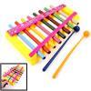 Plastic Sticks Yellow Frame 8 Tone Music Beat Percussion Xylopnone Piano Toy